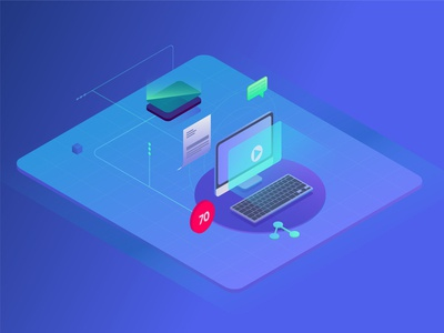 Isometric Illustration for Online Сourses