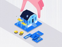 Illustration for Financial Startup Site