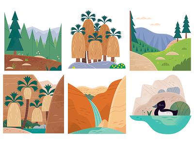 Palm Springs Hikes adobe illustrator maps illustrated maps magazine illustration outdoors hiking travel vector california palm springs icon design design wildlife nature illustration
