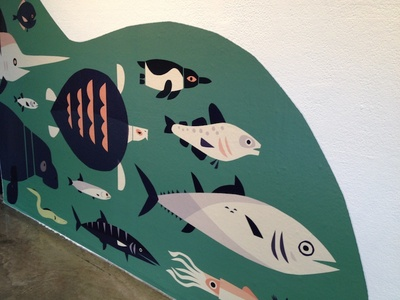 Migration on the Fin wall decal