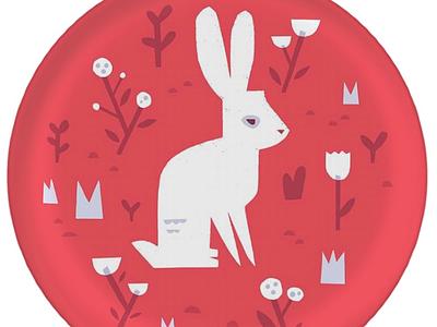White Rabbit Plate surface design pattern design print and pattern pattern alice in wonderland kids design illustration graphic design