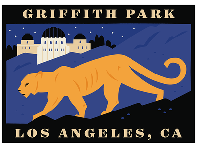 Griffith Park Luggage Label