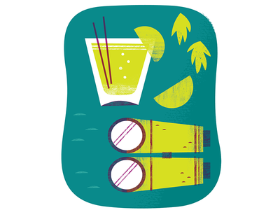Suffering Bastard cocktail illustration food illustration food cocktails design illustration
