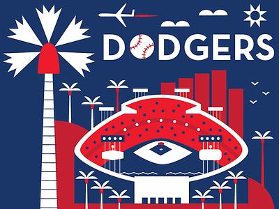 LA Dodgers, Budweiser for Major League Baseball food branding branding icon design california los angeles baseball beer food and drink packaging design illustration