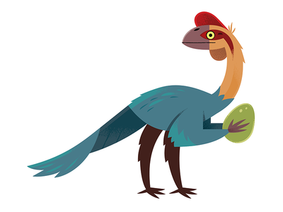 Oviraptor science nature prehistoric dinosaur illustration dinosaur animals illustration