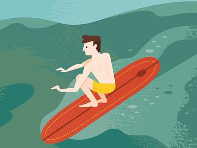 Malibu Surfer surfing beach surfer los angeles travel california icon design icon icons illustrated map illustration map
