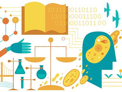 Pursuit of Knowledge medical illustration editorial illustration science illustration