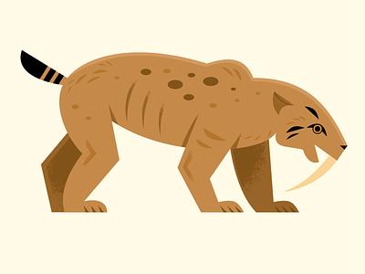 Smilodon extinct prehistoric smilodon science vector wildlife design animals illustration