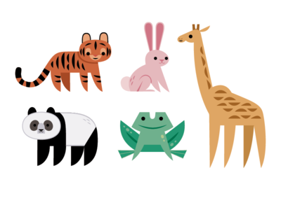 Animal Icons kids illustration kidlitart cute animal icons icon design icon logo vector nature wildlife design animals illustration