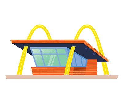 Original Mcdonalds los angeles travel design california vector branding graphic design illustration