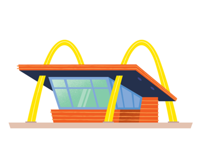 Original Mcdonalds los angeles travel design california vector branding graphic design illustration