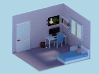 Low Poly: Small Room