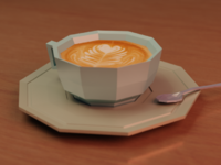 Coffee and desk