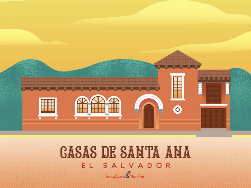 Casa de Santa Ana vector illustration santa ana el salvador