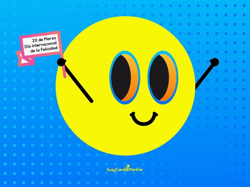 Print Día Internacional de la Felicidad illustration