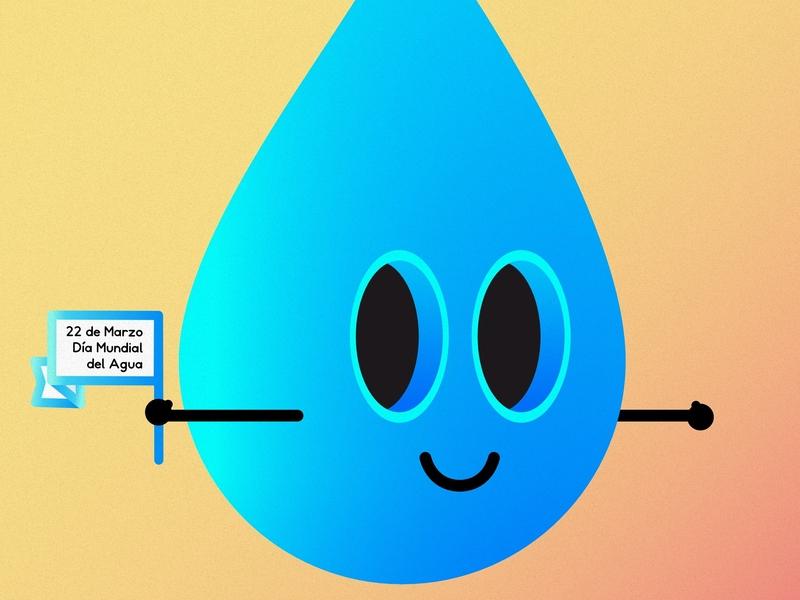 Print Día Mundial Del Agua illustration