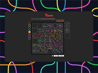 Tsuro 2d minimal ui design web development web design