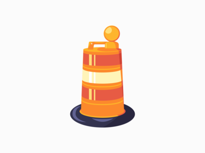 Traffic Cone traffic cone orange digital art daily 3d illustration vector adobe illustrator minimal design