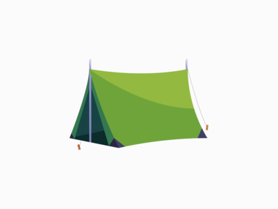 Tent green tent icon digital art daily 3d illustration vector adobe illustrator minimal design