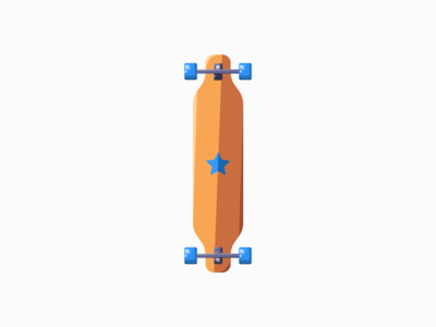 Long Board long board digital art daily illustration vector adobe illustrator minimal design
