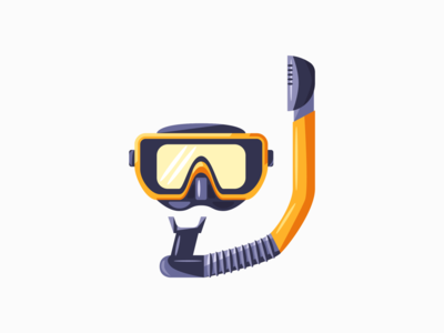 Snorkel snorkel icon 3d digital art daily illustration vector adobe illustrator minimal design