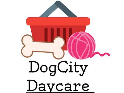 Dog City DayCare logo designer logo design graphic design logo design illustration daycare dog