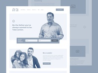 Dare to Dad Wireframe - Homepage mock