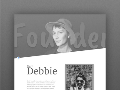 Special Needs founder - mockup grayscale houston ui layout web design
