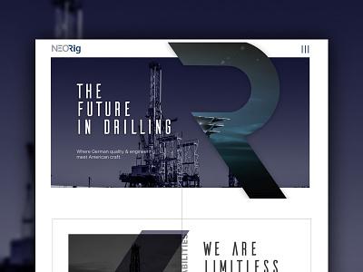 Oil Company - mockup blue ux ui web design