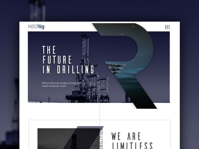 Oil Company - mockup blue ux ui web design
