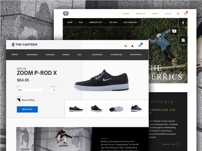 E-commerce skateboarding blog skateboarding ui ux design web ecommerce