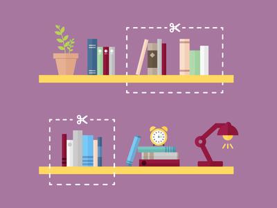 Book donation illustration