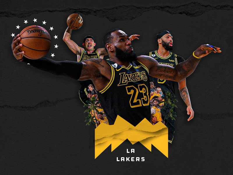 Lakers in 4 los angeles la anthony davis lebron james photoshop design lakers