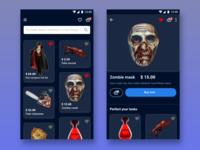 Halloween shop app