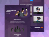 Riddiculous VR homepage concept