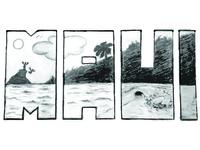 Maui Scene Sketch