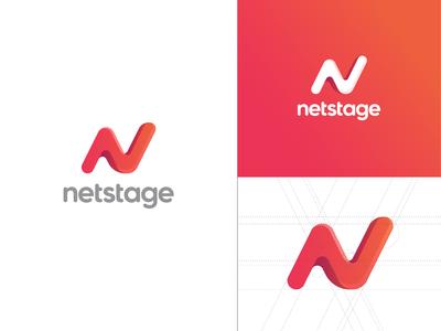 Netstage logo construction