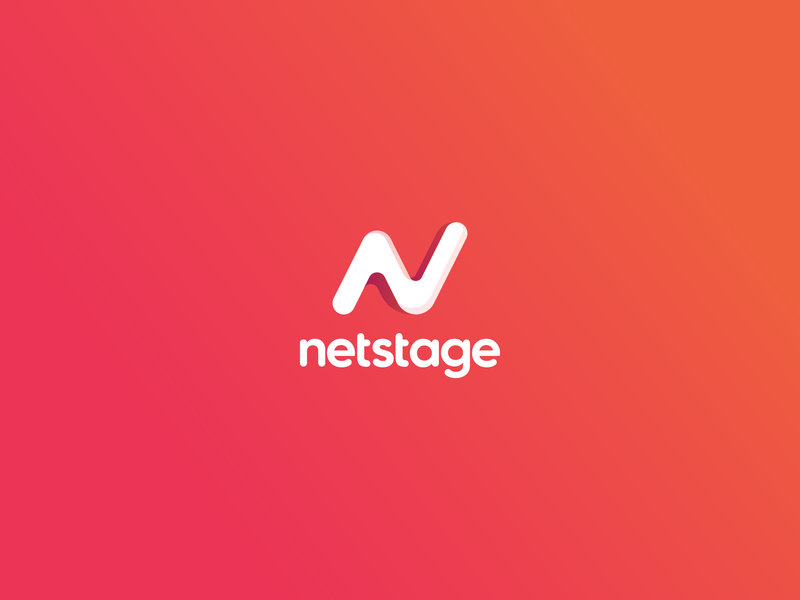 Netstage brand identity logo branding design