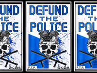 DEFUND THE POLICE black lives matter blm risography risograph march protest sign protest punk design punk cops badge fuck the police police reform police ftp acab lettering poster design poster defund the police
