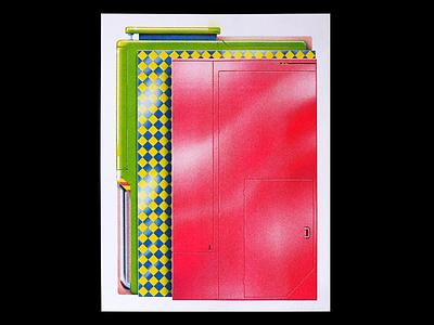 Panel Study 1 90s prints contemporary art art print poster postmodern risografia risograph print graphic andy gregg studio super print art risography illustration riso print riso risograph