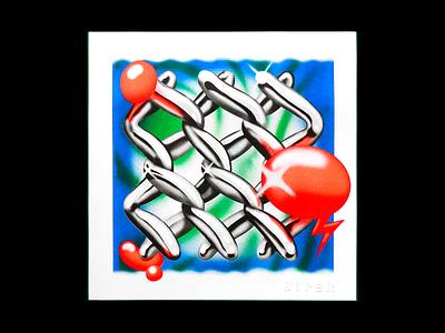 That Loud weed chrome contemporary art poster print risography risograph riso art art print air brush retro andy gregg studio super illustration 420