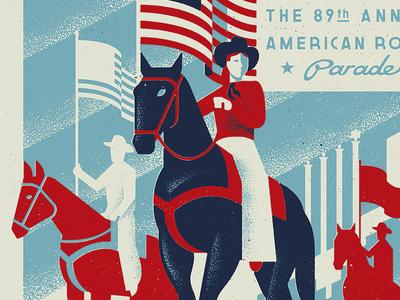 The American Royal - Pride lettering retro vintage deco 1930s 1940s wpa flag rodeo americana american royal kansas city