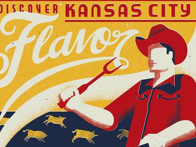 The American Royal - Flavor lettering retro vintage deco 1930s 1940s wpa bbq barbecue americana american royal kansas city