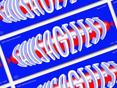 SausageFest 2016 typography hot dog andy gregg batman wiener poster type lettering sausage
