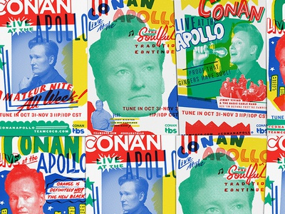 Conan: Live at The Apollo, Killed Direction 1 retro hand lettering lettering show gig poster new york apollo theater apollo conan obrien conan