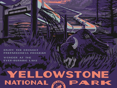 Alt National Parks Posters: Yellowstone