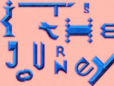 Journeyman tbt print postmodern letterform hand lettering type design type lettering