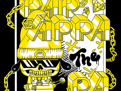 PaRappa Comic Shirt Design