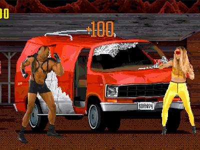 RED FANG: ANTIDOTE headbang studio super animation andy gregg music video 16-bit pixel art game design game art video game metal red fang
