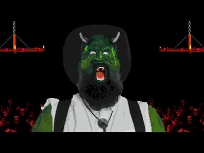 Head Destruction🤘 headbang music video motion illustration death 16-bit video game game design animation pixel art metal antidote red fang